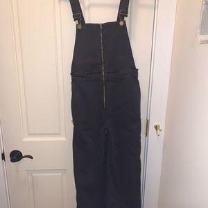 Amuse dark grey zip-up jumpsuit